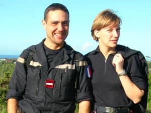 Jean-François Haned et Anne-Cécile Louvet infirmiers sapeurs pompiers isp