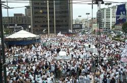 Les étudiants infirmiers dans la rue le 12 mai
