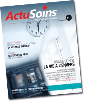 ActuSoins, magazine papier pour infirmière libérale et hospitalière, infirmier, IDEL, Ibode, Iade, Cadre de Santé - ActuSoins