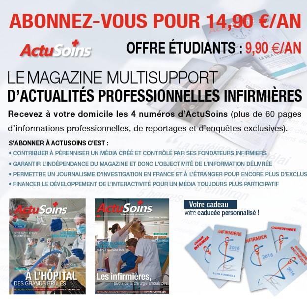 Abonnement magazine infirmier actusoins