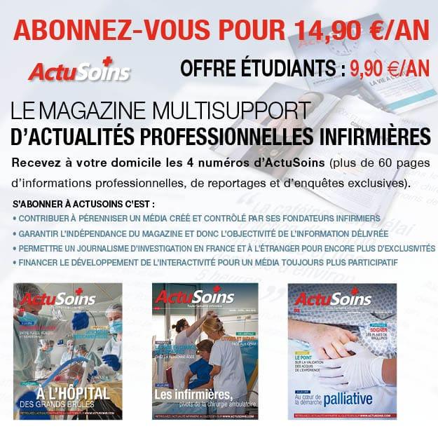 Abonnement magazine pour infirmier et infirmière actusoins