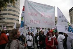Les infirmières scolaires dans la rue