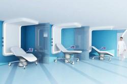 """Salle post opératoire de la future """"Concept Room"""" - DR"""