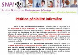 Pénibilité infirmière pétition