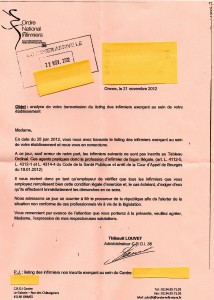 Infirmière Non-inscription à l'Ordre infirmier : le Parquet informé