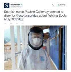 Ebola : une infirmière écossaise contaminée et soignée à Londres