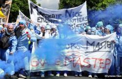 Manifestation des IADE à Paris, le 5 juin 2014