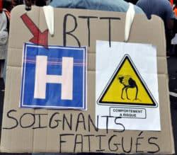 AP-HP : des infirmiers et agents toujours aussi mobilisés rtt soignants fatigués