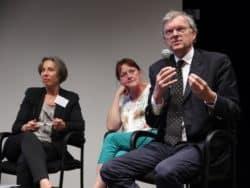©Lucie Déraillot De gauche à droite : Roselyne Vasseur, Anne Marie Béguin et le Dr Jean-Marie Gomas