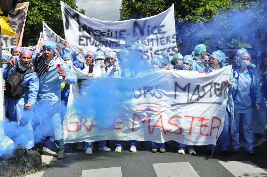 ©Cyrienne Clerc. Lors de la manifestation des IADE en juin 2014