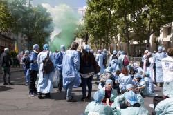 © Laure Martin. Lors de la mobilisation des IADE le 21 mai 2015.