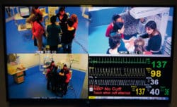 salle debriefing bloc infirmiere simulation