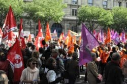 ©Cyrienne Clerc Manifestation le 21 mai dernier devant le siège de l'AP-HP, avenue Victoria