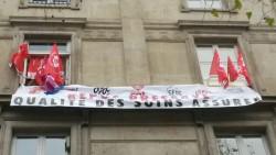 Des syndicalistes squattent le siège de l'AP-HP depuis 24 heures