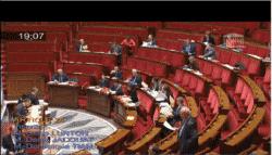 Capture d'écran. Les rangs de l'AN très clairsemés pendant les débats vendredi 28 novembre