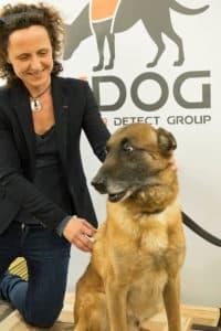 Kdog Des chiens pour dépister le cancer du sein. Isabelle Fromantin infirmière