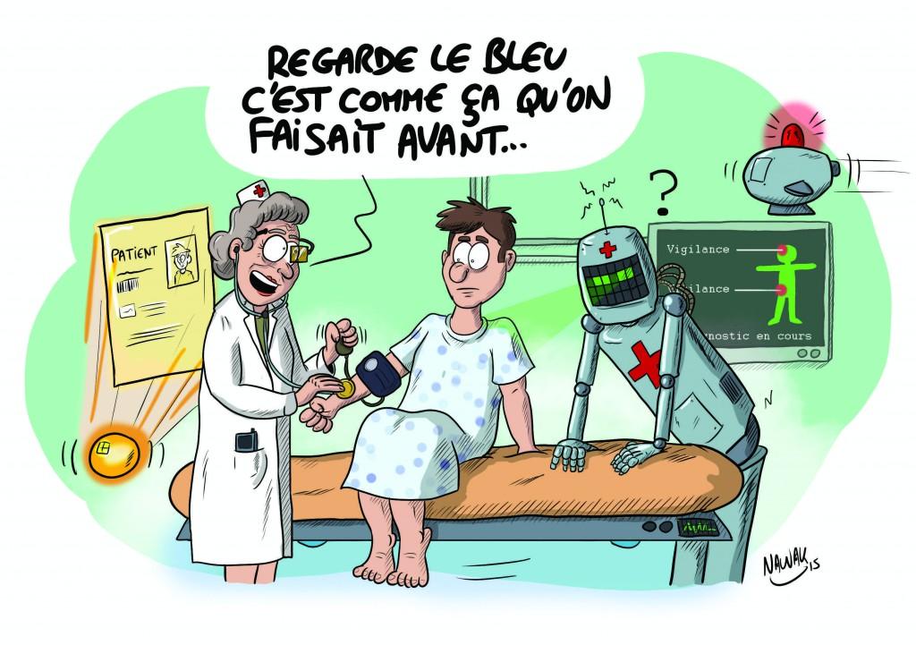 Infirmière en 2025: entre puces, robots et monitoring