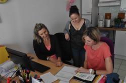 Ann-Gaël Le Manach, ASG, et Sandra Bayle, infirmière coordinatrice de l'ESA de Mérignac