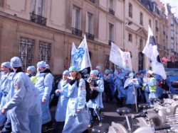 Lors de la manifestation IADE du 22 mars 2016