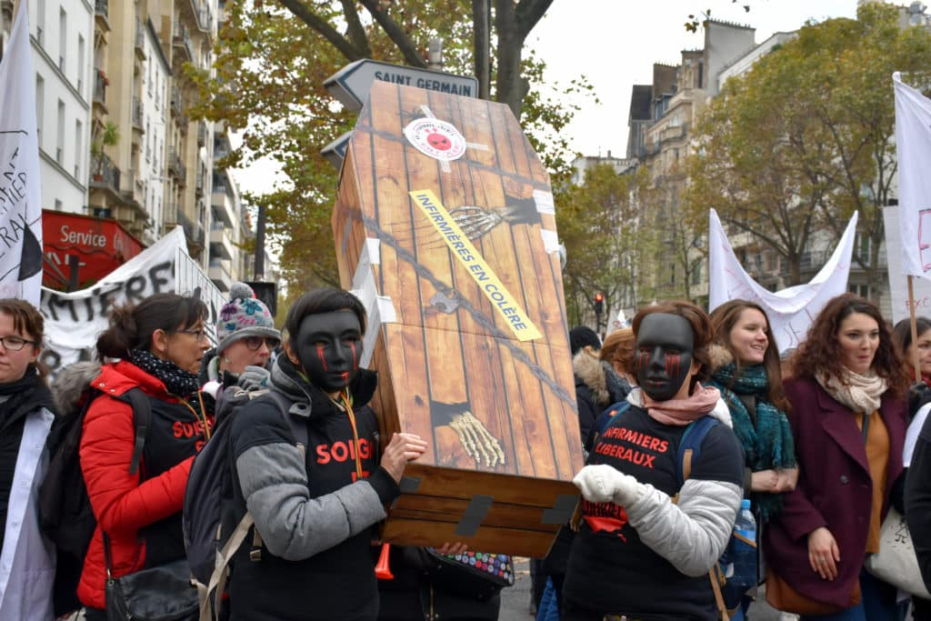 manifestation des infirmiers 8 novembre infirmiers libéraux en colère