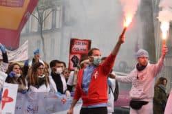 manifestation des infirmiers 8 novembre fnesi federation nationale des etudiants infirmiers
