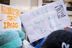 manifestation des infirmières 8 novembre marseille iade hopital nord en colère
