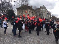 Les infirmiers libéraux de l'association Unidel avec un dress-code en Rouge et Noir