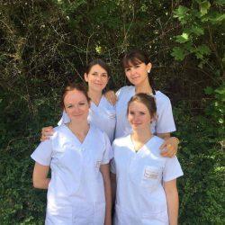 Cécile, Delphine, Justine et Justine sont étudiantes en soins infirmiers en troisième année à l'IFSI de Dijon