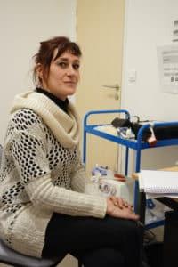 Séverine Mallégoll infirmière au sein de la SCMR parisienne