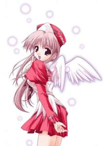 Une infirmière à la maison : Fleur, infirmière. Cœur avec les doigts et représentations