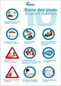 Soins des pieds du patient diabétique