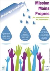 Affiche lauréate du concours Mission Mains Propres 2014
