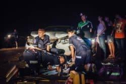 Une équipe de Vientiane Rescue. Le Laos a l'un des taux d'accidents de la route les plus élevés de l'Asie du Sud-Est