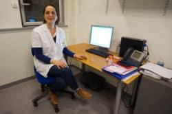 Chantal Barré, infirmière en cancérologie et sophrologue, à l'Institut Curie (Paris)