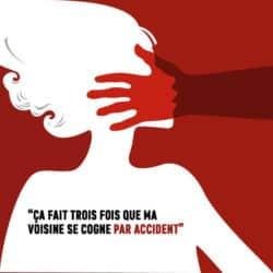 Extrait d'une affiche diffusée lors de la Journée nationale de lutte contre les violences faites aux femmes