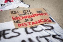 Les étudiants en soins infirmiers soutiennent la grande mobilisation soignante du 17 décembre