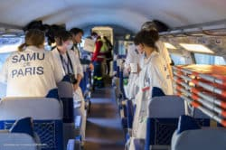 Un TGV sanitaire transfère 20 patients atteints du Covid-19