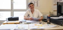 Sylvie Moreau est la cadre de soins du service