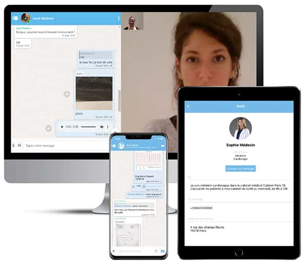 Idomed propose une messagerie instantanée, essentielle pour faciliter les échanges du quotidien avec vos collègues infirmiers