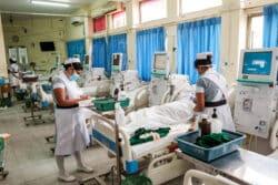 Dans le service de dialyse de l'hôpital de Kandy, le plus grand centre du pays pour la prise en charge des pathologies rénales chroniques