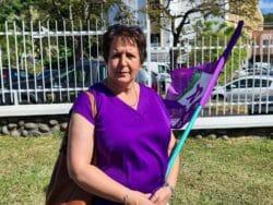 Zohra Givran, secrétaire générale du syndicat Sud Santé, s'indigne devant les conditions de travail des soignants au CHOR