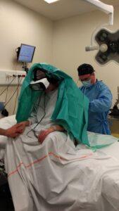 La réalité virtuelle est également utilisée pour des péridurales