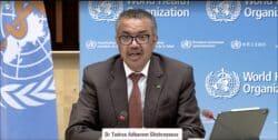 Tedros Adhanom Ghebreyesu, directeur de l'OMS lors de la visio-conférence du mercredi 8 septembre 2021